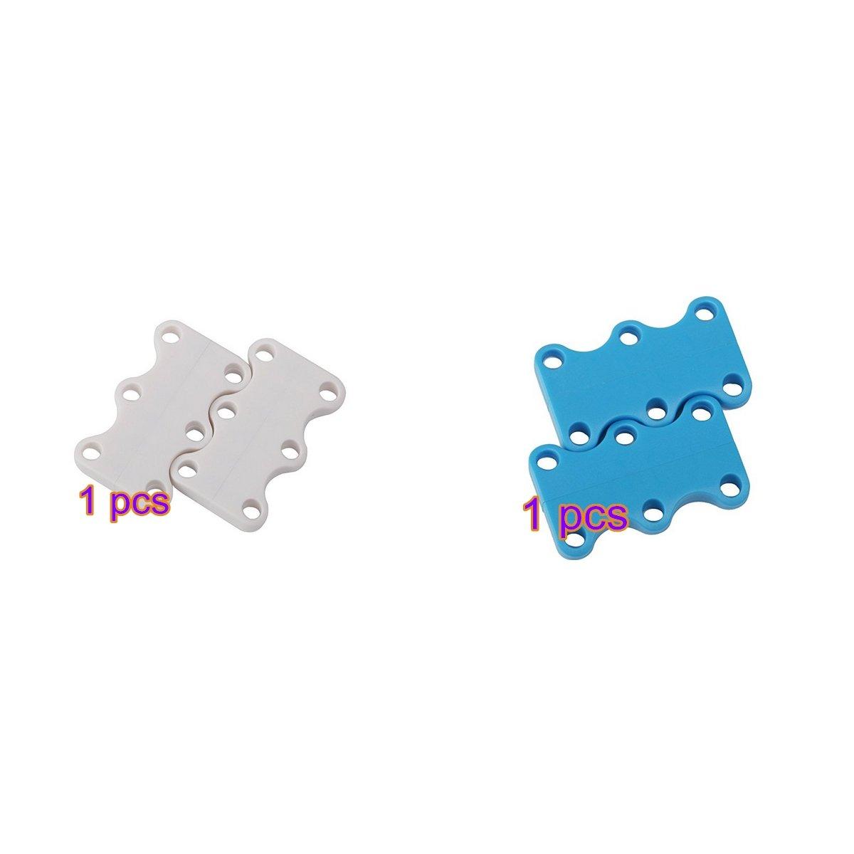 Mio.oo Magnetische Schuhverschlüsse Unisex Schnüre Nie Wieder Binden (Blau und Weiß) * 2