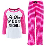 Emme Jordan In the Mood to Chill Womens' Pink Pajamas XL