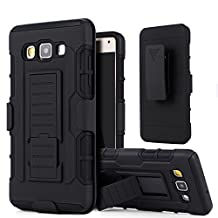 Galaxy A5 (2015) Case,Stanlance Swivel Belt Clip Holster Shell Cover with Kickstand [MILITARY GRADE] Heavy Duty Sturdy Rubber Armor Case for Samsung Galaxy A5 2015 (Not fit Samsung A5 2017)
