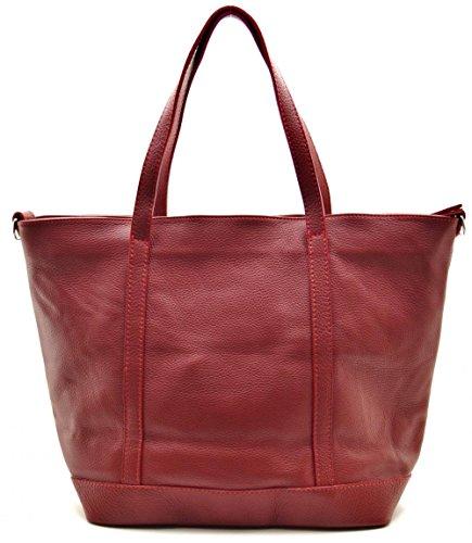 nouvelle main sac et angie DESTOCK grainé porté 2018 épaule modèle à main FONCE CUIR cuir collection ROUGE ASqRwn