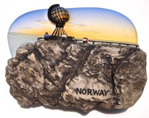 North Cape & Midnight Sun. Norway, High Quality Resin 3d Fridge Magnet