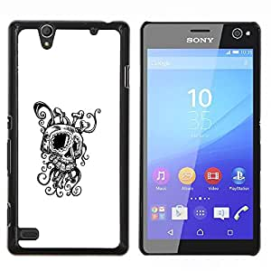 Jordan Colourful Shop - Octopus Squid Skull For Sony Xperia C4 Personalizado negro cubierta de la caja de pl????stico