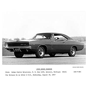 1968 Dodge Charger Automobile Photo Poster