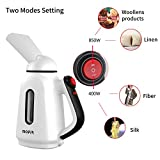 MOFIR Mini Travel Garment Steamer & Clothes Steamer 120ml | Portable, Handheld & Lightweight Lint & Wrinkle Remover with Continuous Steaming | For Linen, Shirts, Bedding, Suits, Curtains, & More …