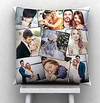 08485132388 Buy GiftsOnn Satin Personalized Cushion with 9 Photos (12x12-inch ...