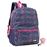 Confetti Girls' Mad Labs Rainbow Heather Backpack with Bluetooth Spaeker Kid's School