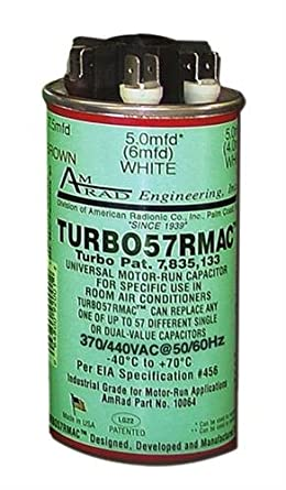 Portable Air Conditioner Universal Replacement Run Capacitor