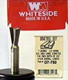 Whiteside Router Bits D7-750 Dovetail Bit with 3/4-Inch Large Diameter, 7/8-Inch Cutting Diameter and 1/2-Inch Shank