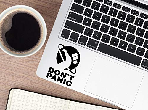 Dont Panic Sticker Vinyl Decal for Laptop - Car - Wall - Notebook Black White Holographic Send in Envelope