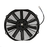 MagiDeal 9''/10''/12'' Car Motorcycle Electric Radiator Cooling Fan 80W 12V for Water Tank Heat Dissipation - 12 inch