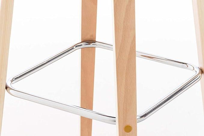 Clp sgabello alto di design malone con poggiapiedi