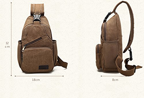 Shoulder Shoulder Canvas Waterproof Bag Of Sports Casual Bag Multifunctional Trunk Blue Men Men Blue Yueer 8S4xAwIqq