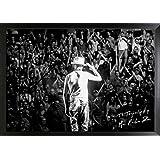 Frameworth The Tragically Hip Framed 20x29 Canvas GORD Downie Salute, One Size, Black