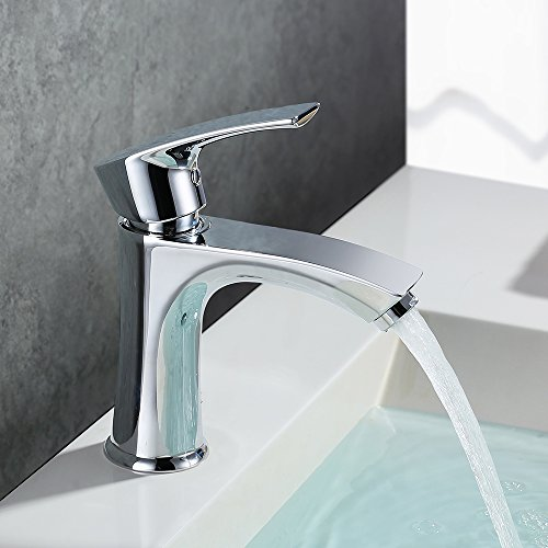 Homelody chrom Wasserhahn Waschtischarmatur warm/kaltwasser Mischbatterie Waschenbecken Waschtisch Badarmatur Bad