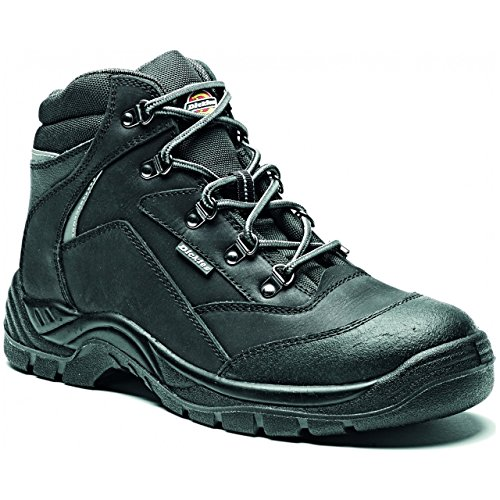 Dickies Mens Davant Work Safety Steel Toe Cap Midsole Leather Boots negro