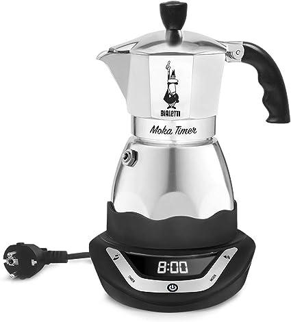 Bialetti Moka Timer, cafetera de aluminio con base eléctrica que ...