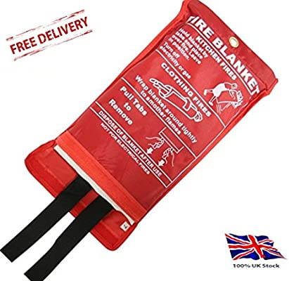 1x1m Emergency Office Wall Workplace Safety Fire Fighting Blanket Extinguisher
