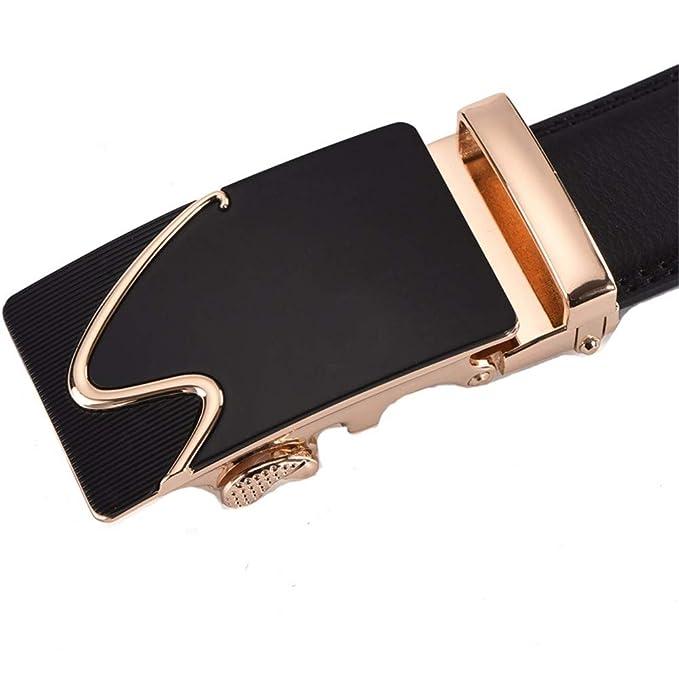 JIUSHIGUANG Cinturones Cinturón Negro De Cuero 5ec936f0a1b3