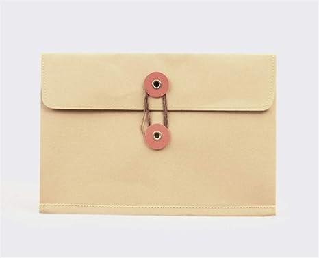 Useful Bolso Lavable de Papel Kraft de tamaño pequeño Estilo Simple Carteras (marrón) Ari_Mao