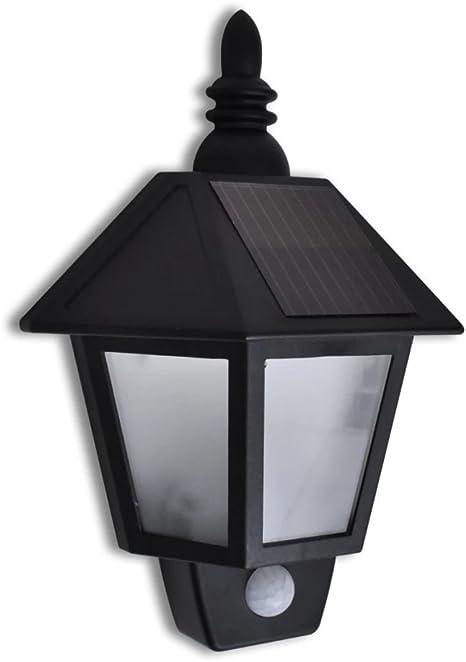 Solarleuchten LED Regenrinne Doppel Zaun Spot Außenlampe Wand Dach Garten Lampe