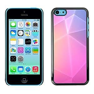 "For Apple iPhone 5C Case , Polígono Arte púrpuras rosadas amarillas Líneas"" - Diseño Patrón Teléfono Caso Cubierta Case Bumper Duro Protección Case Cover Funda"