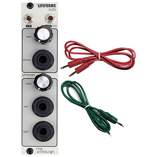 (Pittsburgh Modular Lifeforms Outs Headphone Amp/Line Out Eurorack Synth Module w)