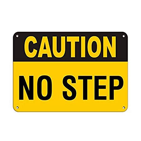 BORJOR Caution No Step Hazard Sign -Cartel de Pared estaño ...