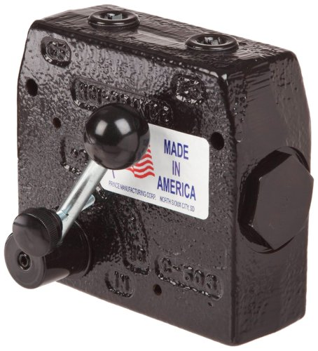 Prince RD-175-30 Flow Control Valve, Adjustable Pressure Relief, Cast Iron, 3000 psi, 0-30 gpm, 3/4'' NPTF by Prince Manufacturing