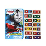 Thomas & Friends 28 Plastic Dominoes with Collectible Tin Toy For Kids Age 5+ by Cardinal