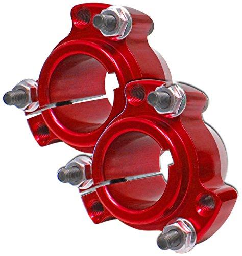 Set of 2 - Red 1'' Rear Lightened Aluminum Racing Wheel Hubs Go Kart Drift Trike by BMI Karts (Image #1)