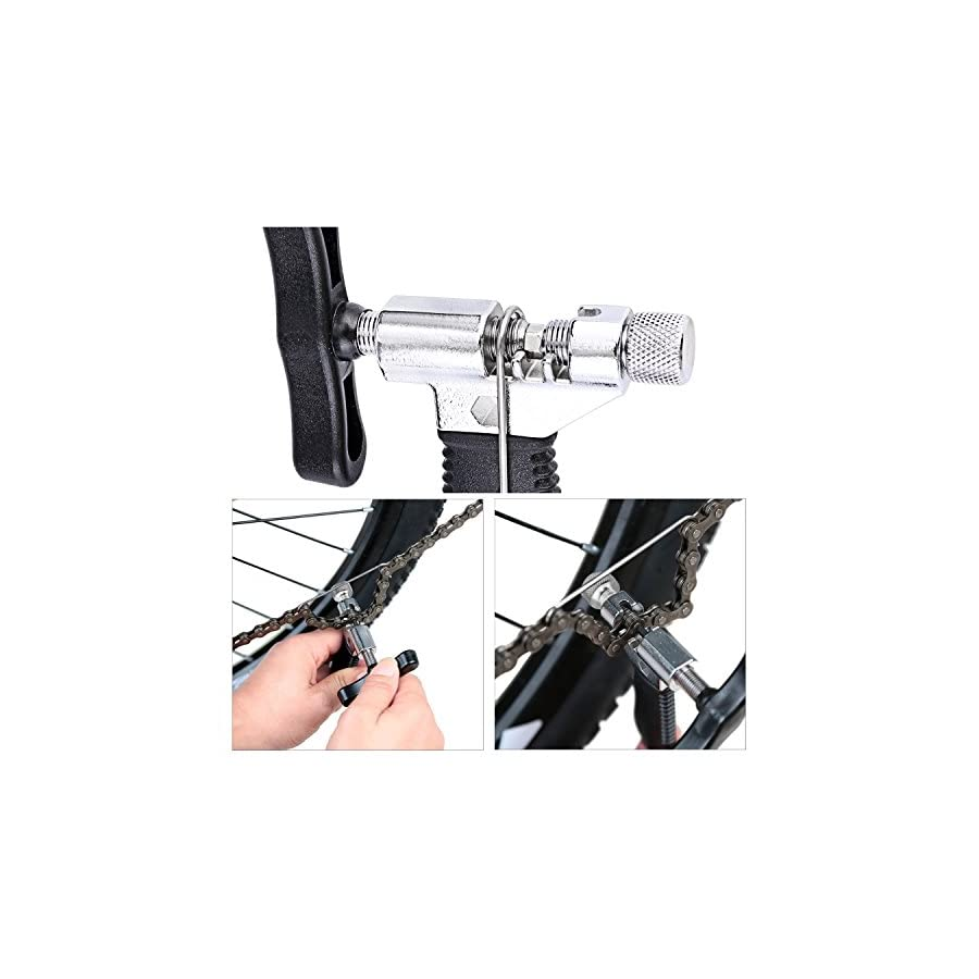 Oumers Bike Link Plier+Chain Breaker Splitter Tool+Chain Checker, Chain Missing Link Opener Closer Plier Chain Cutter Connector Wear Indicator Tool