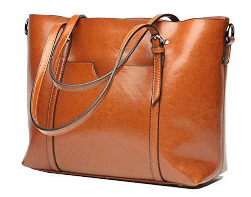 Molodo Womens Satchel Hobo Stylish Top Handle Tote Genuine Leather Handbag Shoulder Purse