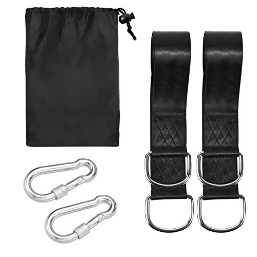 KeenWiz Tree Swing Hanging Strap Kit with 2 Strap & Snap Carabiner Hook for Outdoor Swing Hangers &Hammocks