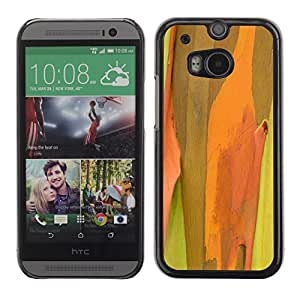 Soft Silicone Rubber Case Hard Cover Protective Accessory Compatible with HTC ONE M8 2014 - Plant Nature Forrest Flower 50