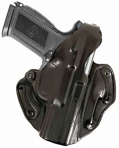 Black Leather Desantis Thumb Break Scabbard Holster for HK VP9 RH