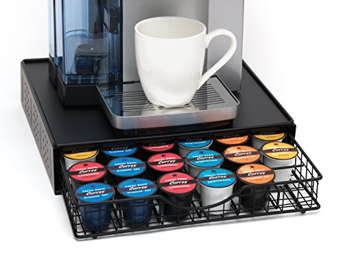 Lipper International 8662 Coffee Pod Storage Drawer with Stand, 36-Pod Capacity, Black by Lipper International (Image #2)