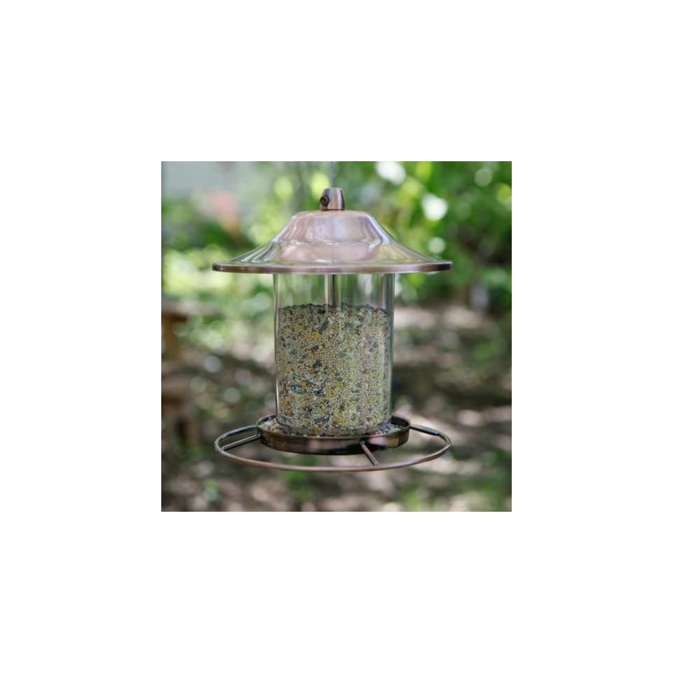 Perky Pet Small Copper Panorama Bird Feeder Patio, Lawn