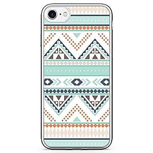 iPhone 8 Transparent Edge Phone case Aztec Phone Case Aztec Green Phone Case Aztec Pattern