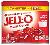 JELL-O Multi Serve Strawberry Gelatin Dessert, 18 Ounce (Pack of 6)