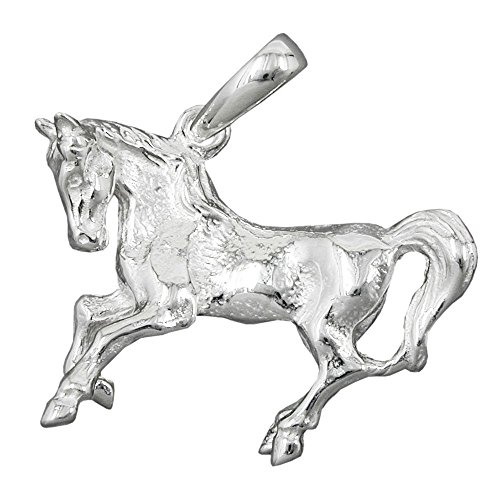 Pendentif, grand cheval, argent 925