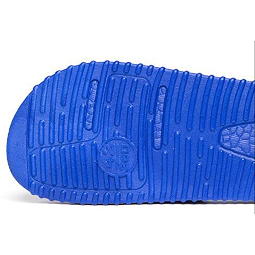 XIAOLIN Zapatillas inferiores de masaje de verano Baño interior Playa Versión japonesa al aire libre de las zapatillas de deporte antideslizante coreano inferior grueso de los hombres inferiores (tama 04