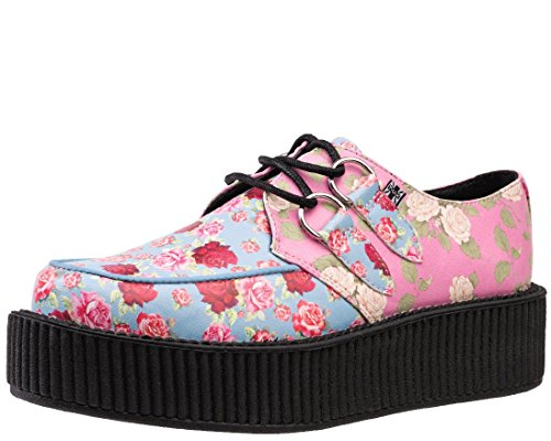 T.U.K. AV9042 Tuk Zapatos Para Mujer Mixtas Florales Veganos Flores Creepers