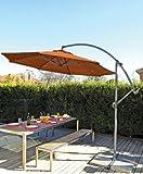 Coolaroo Round Cantilever Umbrella, Terracotta, 10-Foot