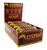EverBar Protein Bar - Almond Cranberry - 16 Bars - ONLY 7 Ingredients - 12g of Protein - Clean Energy Meal Replacement - Gluten-Free, Non-GMO, Dairy Free, Soy Free - Hemp Protein