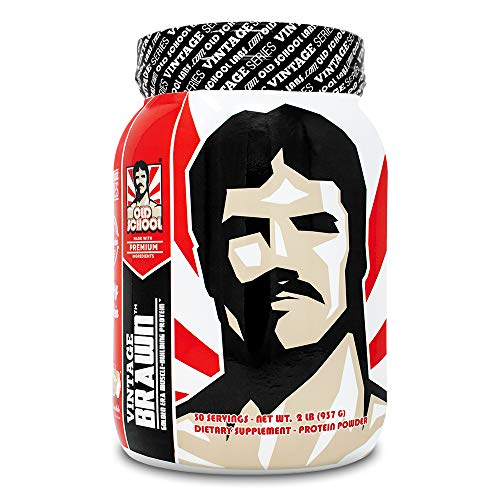 Vintage Brawn Protein - Muscle-Building Protein Powder - The First Triple Isolate of Premium Egg, Milk (Whey and Casein), and Beef Protein - Vanilla Milkshake with Zero Sugars and No Artificials (Best Whey Protein Supplement To Build Muscle)
