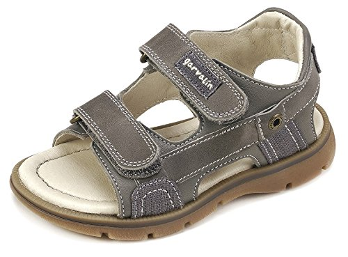 Garvalín Boys' 182463 Open Toe Sandals, Grey (Marengo/Anthracite/Sauvage/Kaiser), 2UK Child -  182463-B-AMZ_B-AMZ