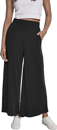 doppelter gutschein Tropfenverschiffen Verarbeitung finden Urban Classics Damen Hose Ladies Modal Culotte Pants mit weitem Bein