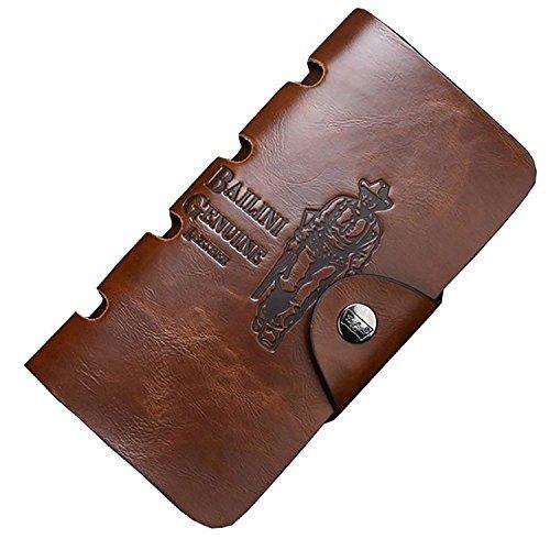 Dreambox USA Classic Vintage BALINI Cowboy Pattern Bifold Men PU Leather Wallet