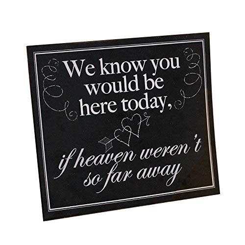 MEMORIAL WEDDING SIGN