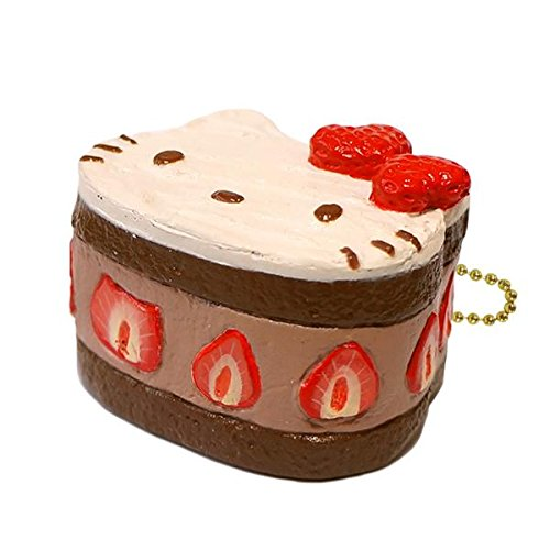 Sanrio Hello Kitty Squishy Lovely Sweets Series Shortcake Ball Chain (Chocolate)